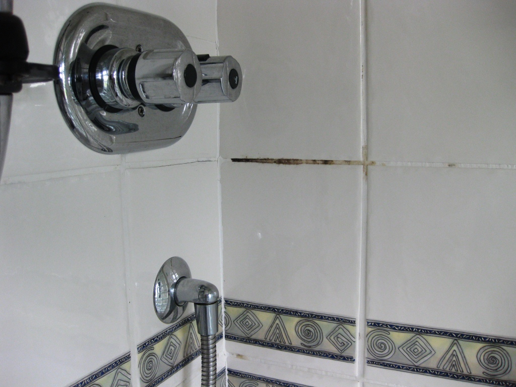 Ceramic Tiled Bathroom Before Cleaning and Sealing