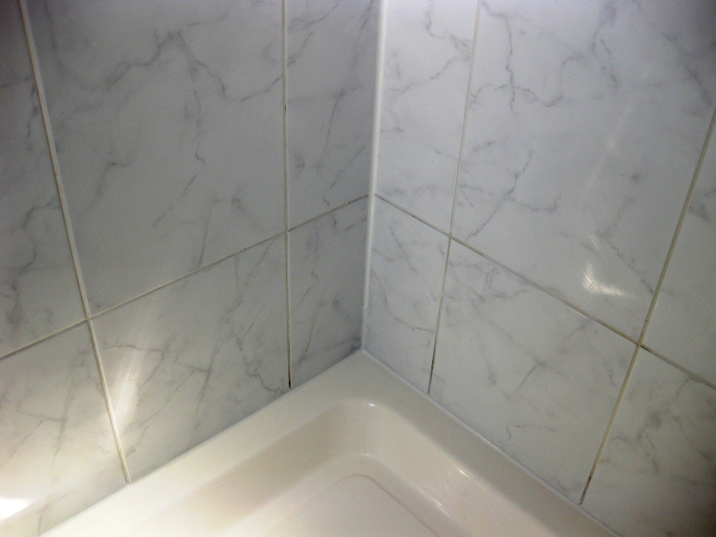 Ceramic Shower Tile and Grout After Cleaning